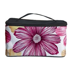 Flower Print Fabric Pattern Texture Cosmetic Storage Case by BangZart