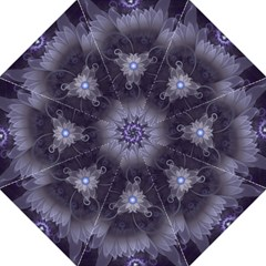 Amazing Fractal Triskelion Purple Passion Flower Folding Umbrellas by jayaprime