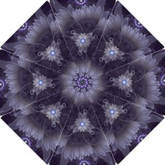 Amazing Fractal Triskelion Purple Passion Flower Hook Handle Umbrellas (small) by beautifulfractals