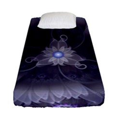 Amazing Fractal Triskelion Purple Passion Flower Fitted Sheet (single Size) by beautifulfractals