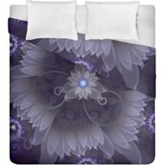Amazing Fractal Triskelion Purple Passion Flower Duvet Cover Double Side (king Size) by beautifulfractals