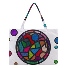 Stained Glass Color Texture Sacra Medium Tote Bag by BangZart