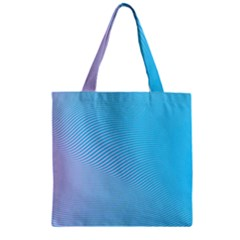 Background Graphics Lines Wave Zipper Grocery Tote Bag by BangZart