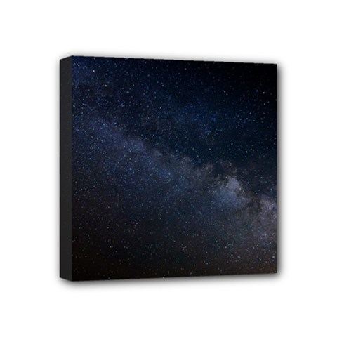 Cosmos Dark Hd Wallpaper Milky Way Mini Canvas 4  X 4  by BangZart
