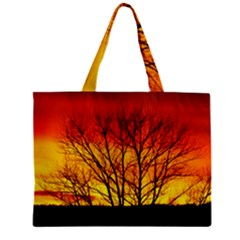 Sunset Abendstimmung Zipper Mini Tote Bag by BangZart