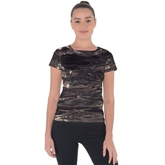Lake Water Wave Mirroring Texture Short Sleeve Sports Top