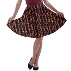 Chain Rusty Links Iron Metal Rust A Line Skater Skirt by BangZart