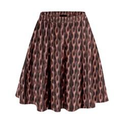 Chain Rusty Links Iron Metal Rust High Waist Skirt by BangZart