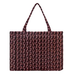 Chain Rusty Links Iron Metal Rust Medium Tote Bag by BangZart