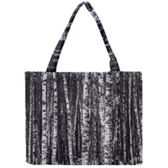 Birch Forest Trees Wood Natural Mini Tote Bag by BangZart