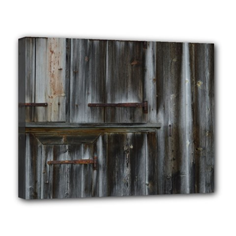 Alpine Hut Almhof Old Wood Grain Canvas 14  X 11  by BangZart