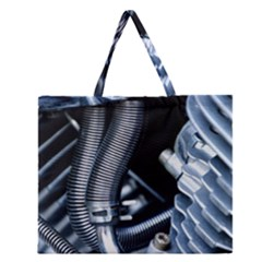 Motorcycle Details Zipper Large Tote Bag by BangZart