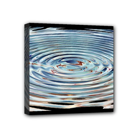 Wave Concentric Waves Circles Water Mini Canvas 4  X 4  by BangZart