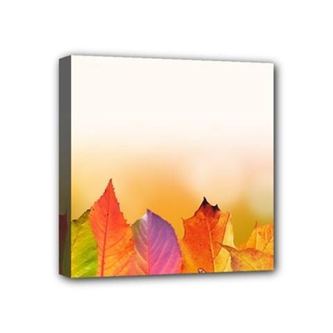 Autumn Leaves Colorful Fall Foliage Mini Canvas 4  X 4  by BangZart