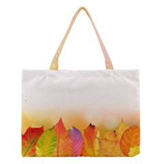 Autumn Leaves Colorful Fall Foliage Medium Tote Bag by BangZart