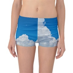 Sky Clouds Blue White Weather Air Boyleg Bikini Bottoms