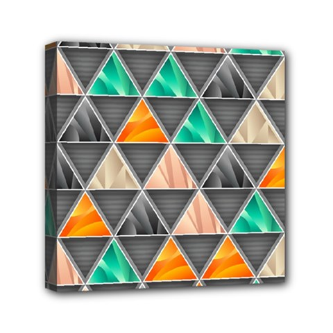 Abstract Geometric Triangle Shape Mini Canvas 6  X 6  by BangZart