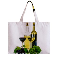 White Wine Red Wine The Bottle Zipper Mini Tote Bag by BangZart