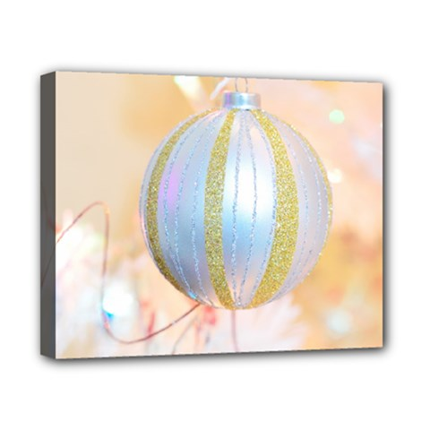 Sphere Tree White Gold Silver Canvas 10  X 8  by BangZart