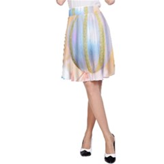 Sphere Tree White Gold Silver A Line Skirt