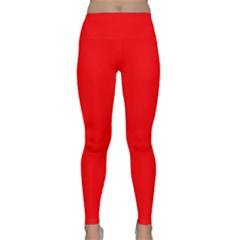 Solid Christmas Red Velvet Classic Yoga Leggings