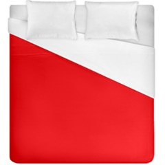 Solid Christmas Red Velvet Duvet Cover (king Size) by PodArtist