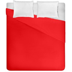 Solid Christmas Red Velvet Duvet Cover Double Side (california King Size) by PodArtist