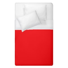 Solid Christmas Red Velvet Duvet Cover (single Size) by PodArtist
