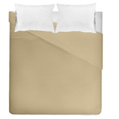 Solid Christmas Gold Duvet Cover Double Side (queen Size) by PodArtist