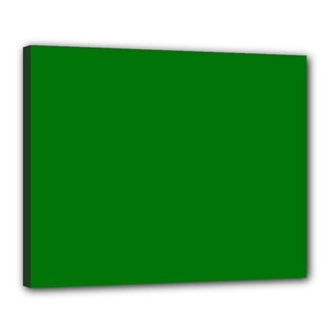 Solid Christmas Green Velvet Classic Colors Canvas 20  X 16  by PodArtist