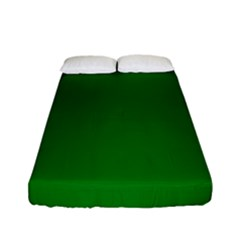 Solid Christmas Green Velvet Classic Colors Fitted Sheet (full/ Double Size) by PodArtist