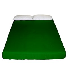 Solid Christmas Green Velvet Classic Colors Fitted Sheet (california King Size) by PodArtist