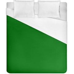 Solid Christmas Green Velvet Classic Colors Duvet Cover (california King Size) by PodArtist