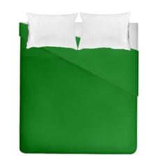 Solid Christmas Green Velvet Classic Colors Duvet Cover Double Side (full/ Double Size) by PodArtist