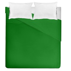 Solid Christmas Green Velvet Classic Colors Duvet Cover Double Side (queen Size) by PodArtist