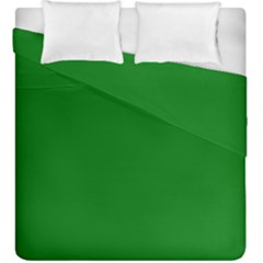 Solid Christmas Green Velvet Classic Colors Duvet Cover Double Side (king Size) by PodArtist