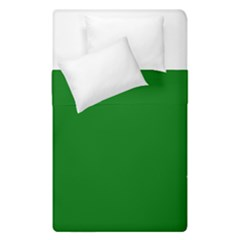 Solid Christmas Green Velvet Classic Colors Duvet Cover Double Side (single Size) by PodArtist