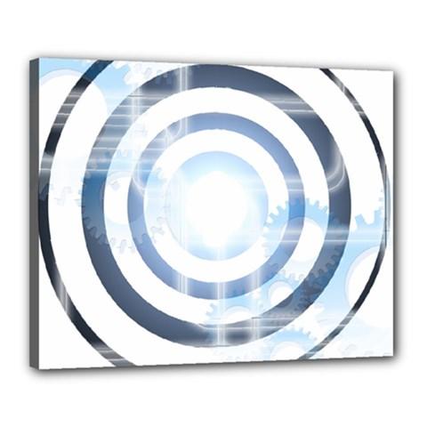 Center Centered Gears Visor Target Canvas 20  X 16