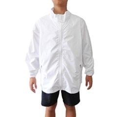 Solid Snow White Christmas Color Wind Breaker (Kids)