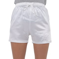 Solid Snow White Christmas Color Sleepwear Shorts