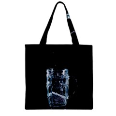 Glass Water Liquid Background Zipper Grocery Tote Bag by BangZart