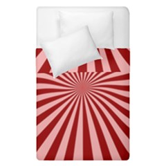 Sun Background Optics Channel Red Duvet Cover Double Side (single Size) by BangZart