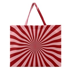 Sun Background Optics Channel Red Zipper Large Tote Bag by BangZart