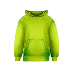 Radial Green Crystals Crystallize Kids  Pullover Hoodie by BangZart