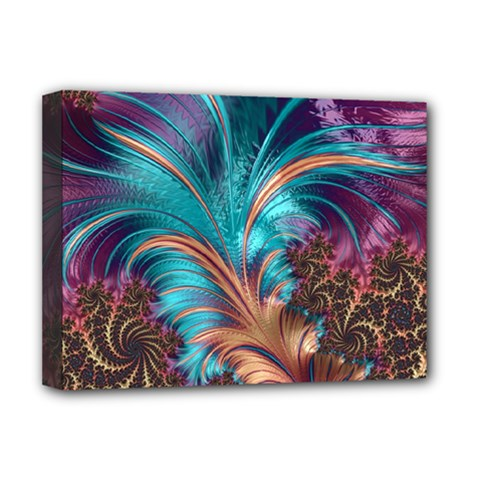 Feather Fractal Artistic Design Deluxe Canvas 16  X 12   by BangZart