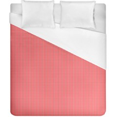 Christmas Red Velvet Mini Gingham Check Plaid Duvet Cover (california King Size) by PodArtist