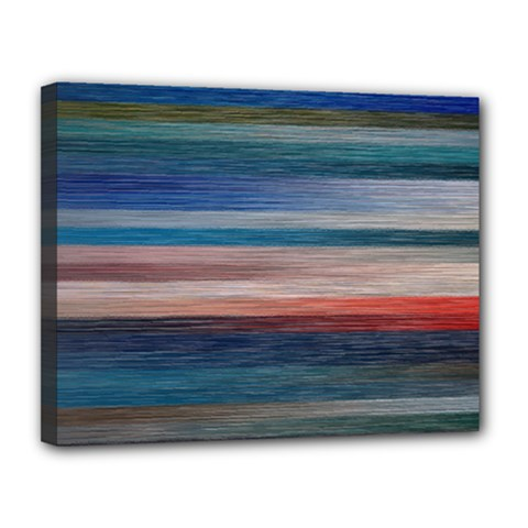 Background Horizontal Lines Canvas 14  X 11  by BangZart