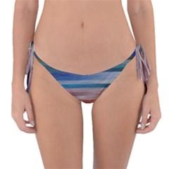 Background Horizontal Lines Reversible Bikini Bottom