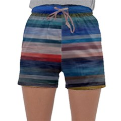 Background Horizontal Lines Sleepwear Shorts