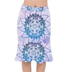 Mandalas Symmetry Meditation Round Mermaid Skirt